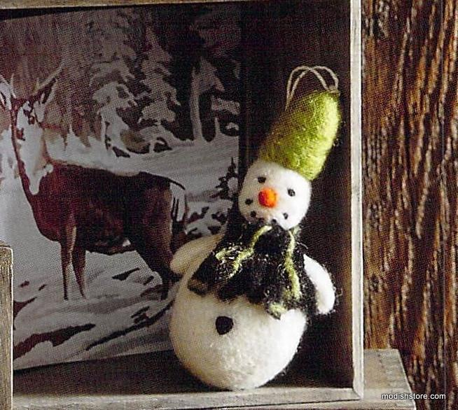 Ornament - Cozy Snowman  Christmas Ornaments - PasParTou