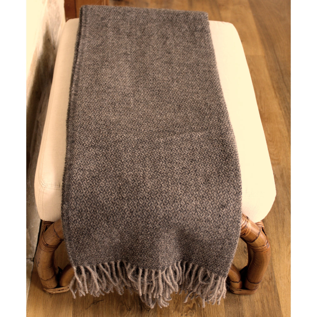 Throw - Dark Brown Diamond - Organic Alpaca/Wool  Throws - PasParTou