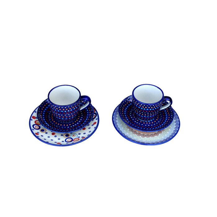 Multi Dots - Cappuccino Cup & Saucer - Set of 2 - PasParTou