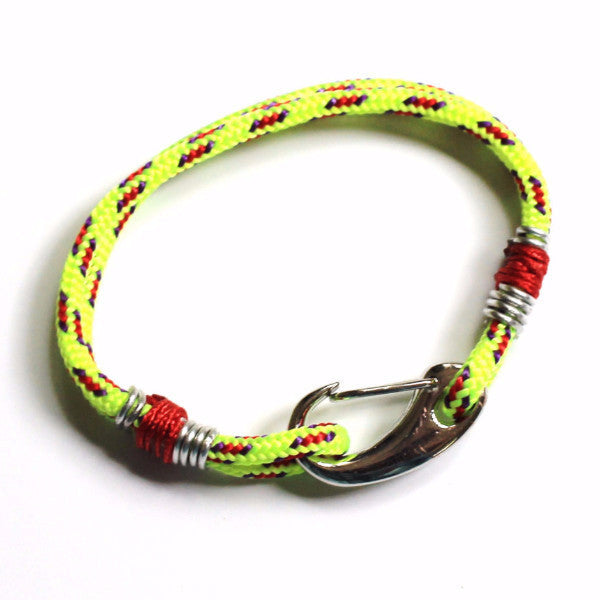 Racing Yellow Rope Bracelet - PasParTou