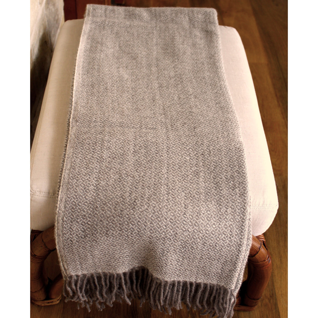 Throw - Brown Diamond -Organic Alpaca/Wool  Throws - PasParTou