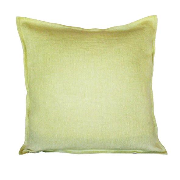 "Pillow Soft Washed Linen Light Green 16 x 16""  Pillows - PasParTou"