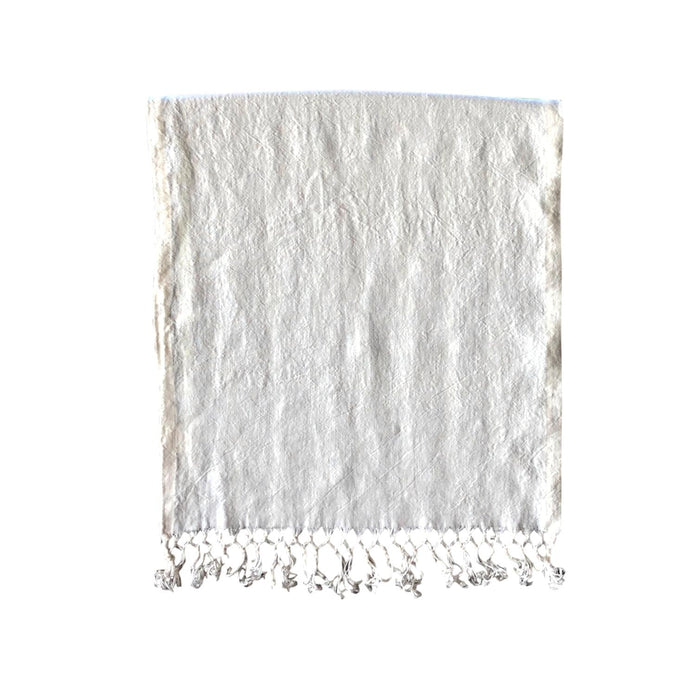 "Runner - Softwashed Linen Fringed Runner - off white - 20"" wide"