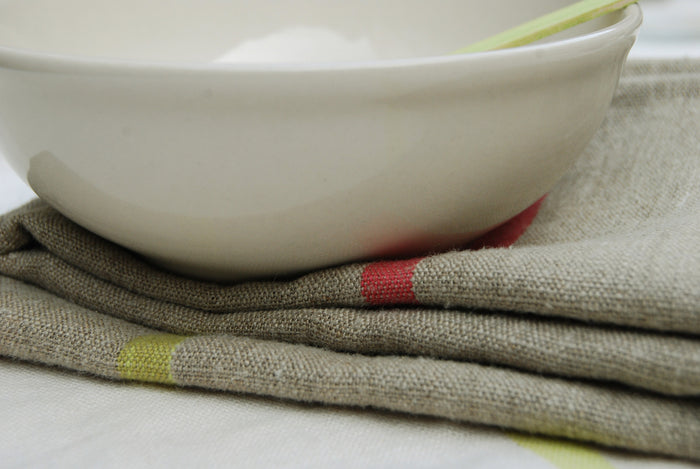 Tablecloth - Rainbow/Natural  tablecloth - PasParTou