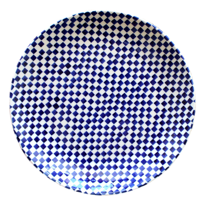 Checkerboard - Salad Plate  Polish Ceramics - PasParTou