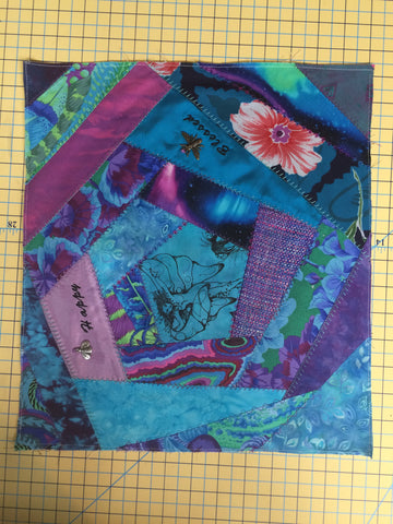 Crazy Quilt with Fussy Cut Template Set