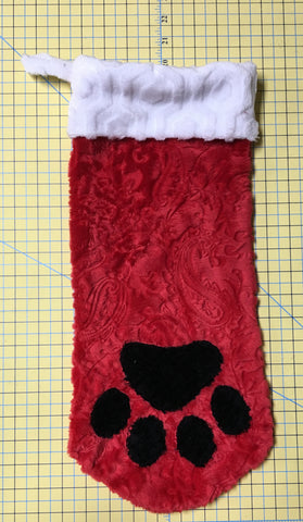 Martelli Stocking Template Set - Paw Print ONLY - 5 piece - Large