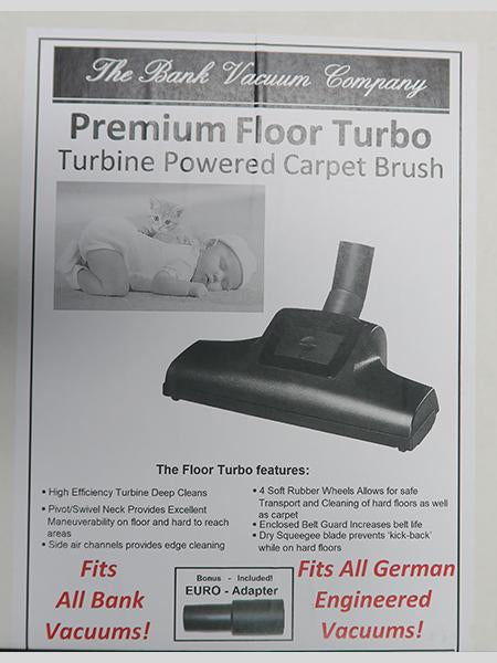The Bank Premium Turbo Brush - Turbine Powered Carpet and Bare Floor Brush