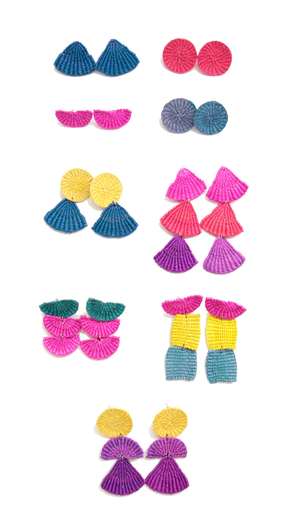 Woven Junco Boho Earrings