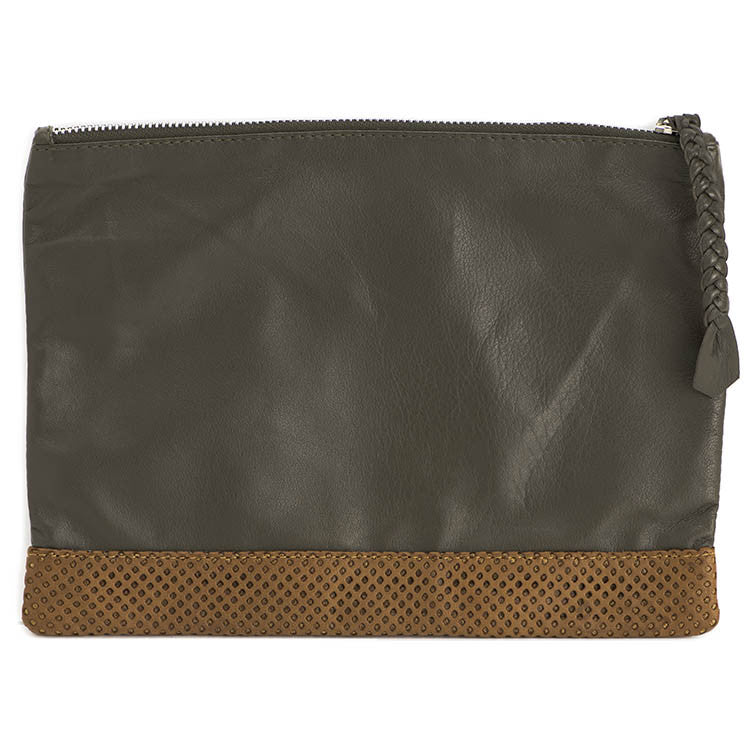 Perforated Leather Cosmetic Bag - Eye Heart Curated