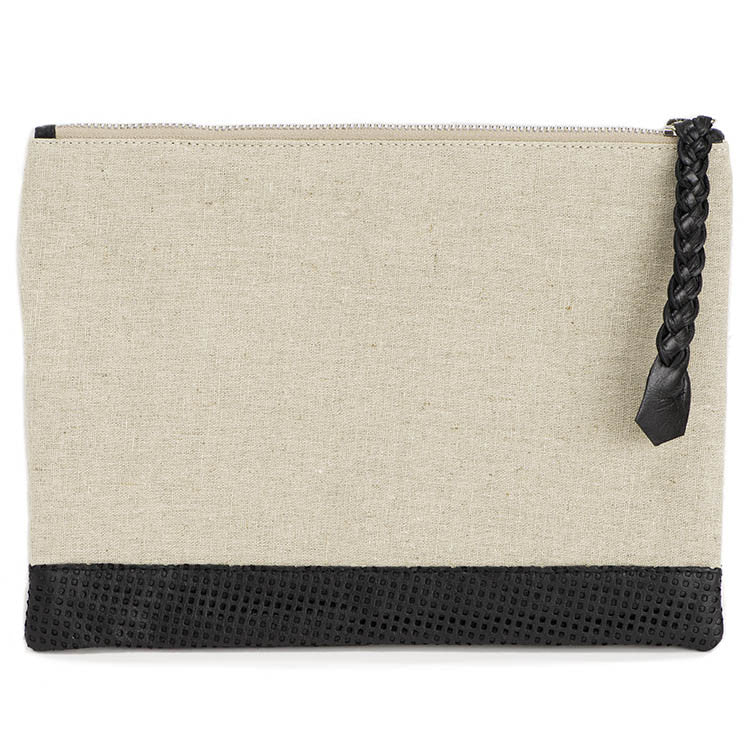 Linen & Leather Cosmetic Bag - Eye Heart Curated