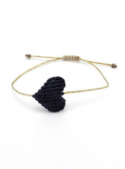 Handmade Macrame Love Bracelet - Large - Eye Heart Curated
