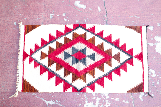Handwoven Native American Textile, Mat, Rug, Wall Hanging - Eye Heart Curated