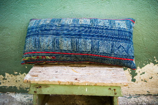 Vintage Batik Indigo Style Lumbar Pillow - Eye Heart Curated
