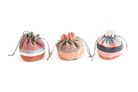 Handwoven Pastel Jewelry Pouch - Eye Heart Curated