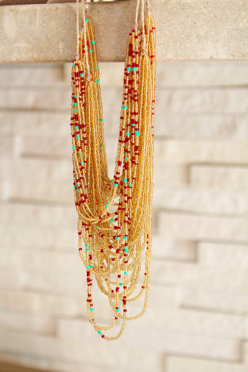 Handmade San Pancho Mexican Multi Beaded Necklace - 4 Colors - Eye Heart Curated