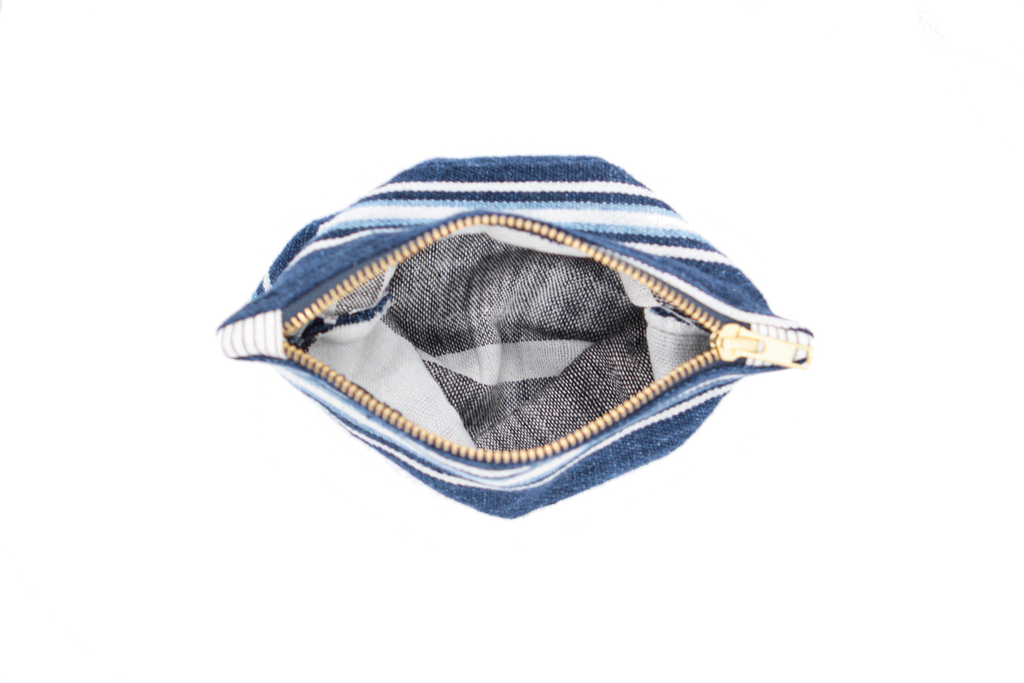 Handwoven Striped Indigo Pouch - Eye Heart Curated