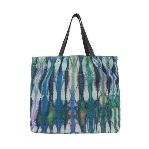 Large Leather Tie-Dye Tote