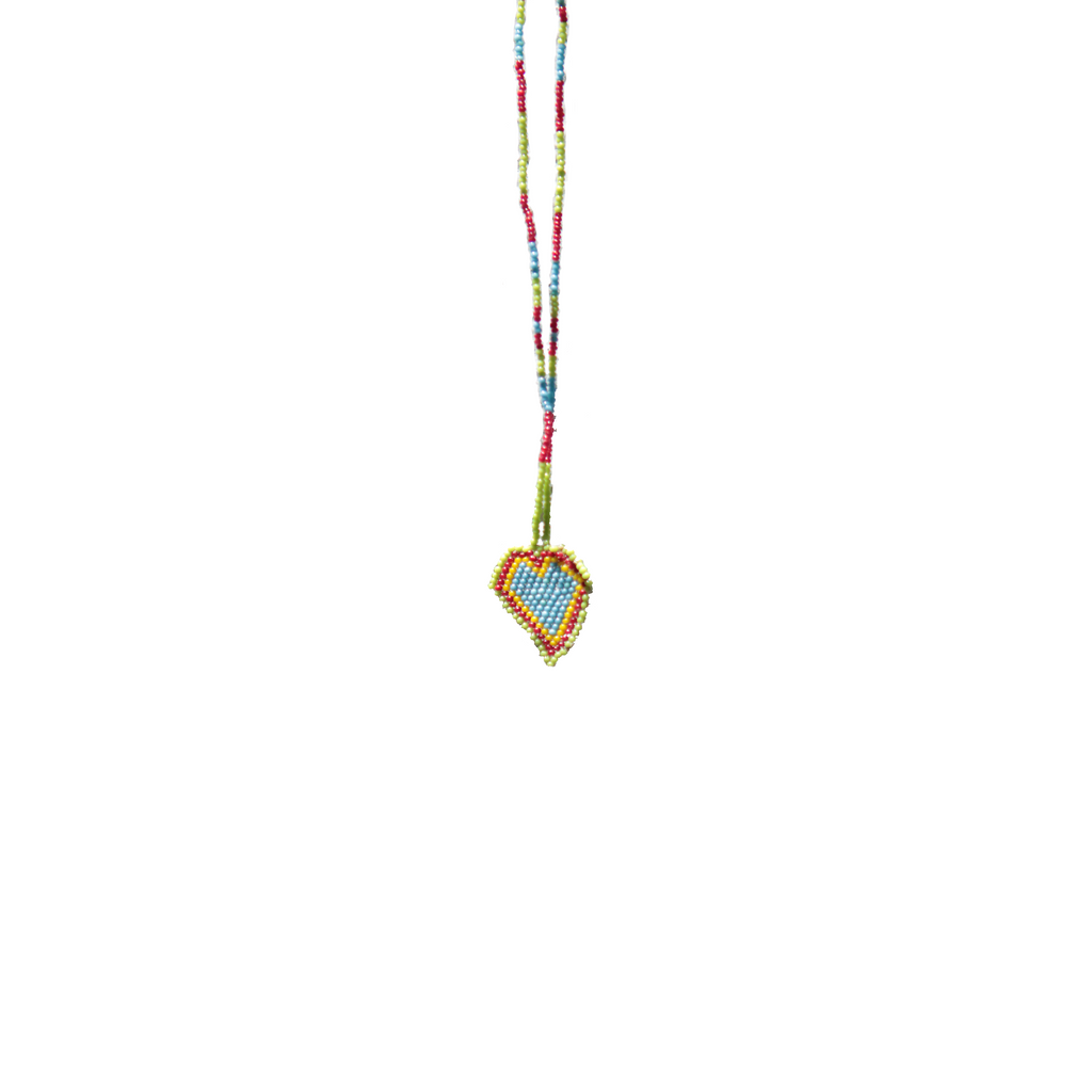 Handmade Huichol Beaded Necklace - Eye Heart Curated