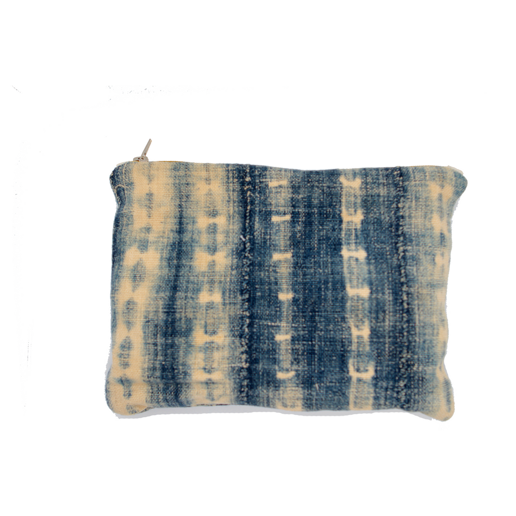 Handwoven Tie-dye Indigo Pouch - Eye Heart Curated