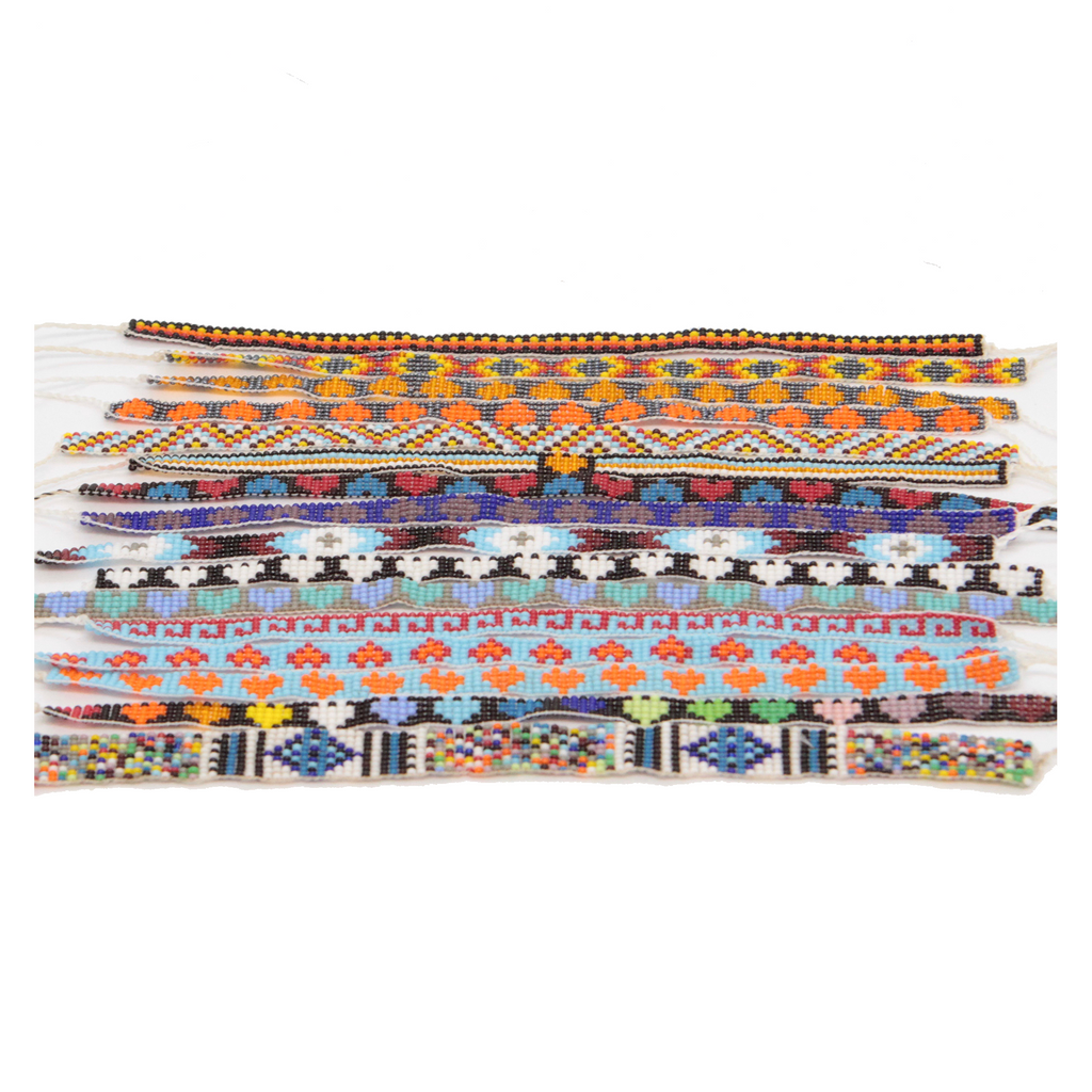 Fine Huichol Handmade Beaded Bracelet - Eye Heart Curated