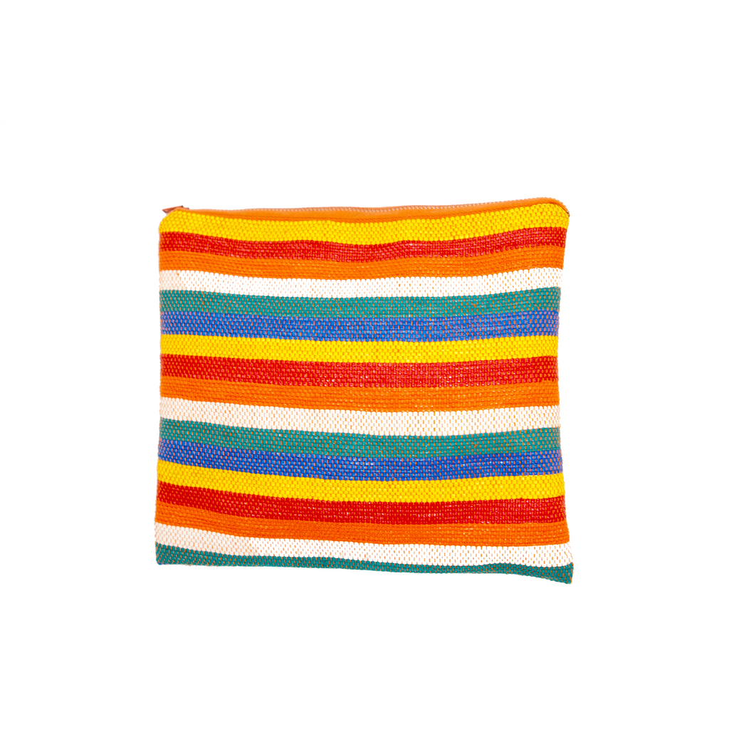 Handwoven Stripe Recycled Cosmetic Bag - Eye Heart Curated