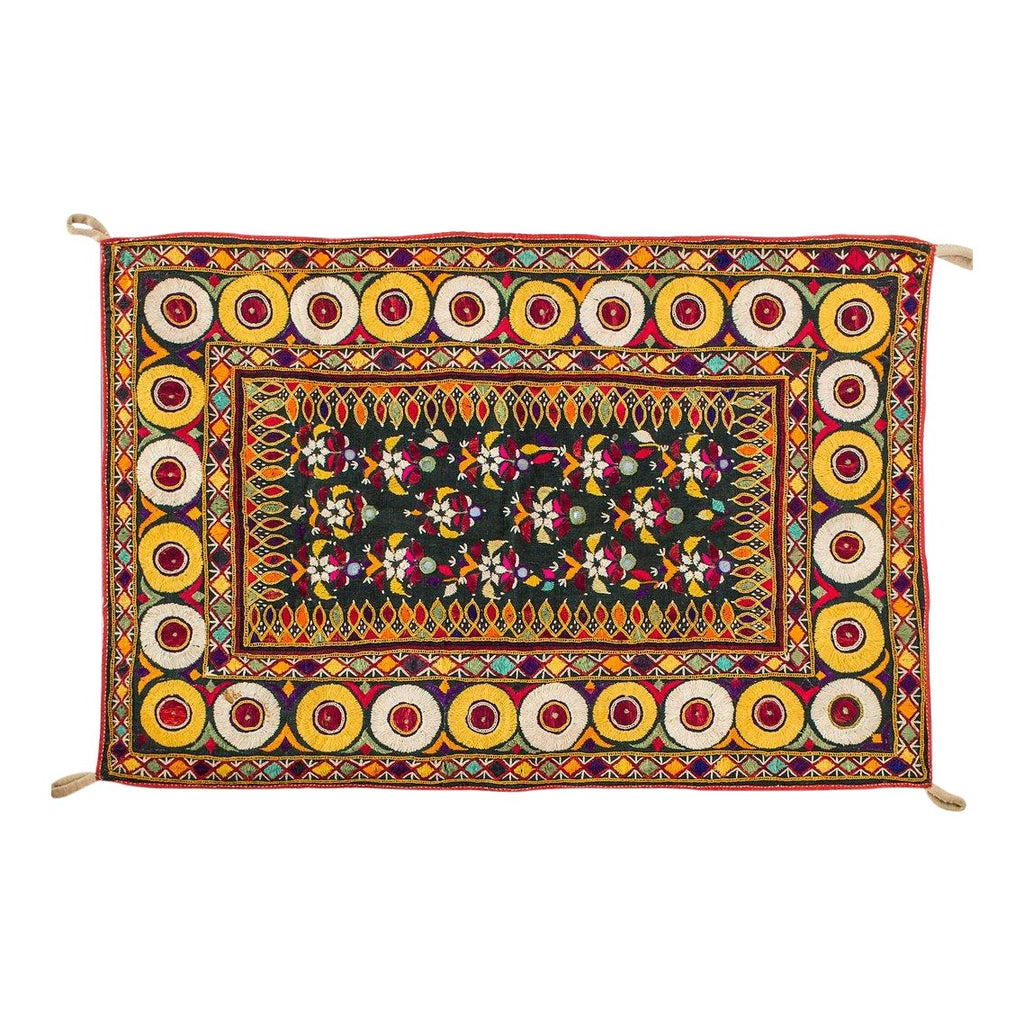 Vintage Indian Textile Wall Hanging - Eye Heart Curated