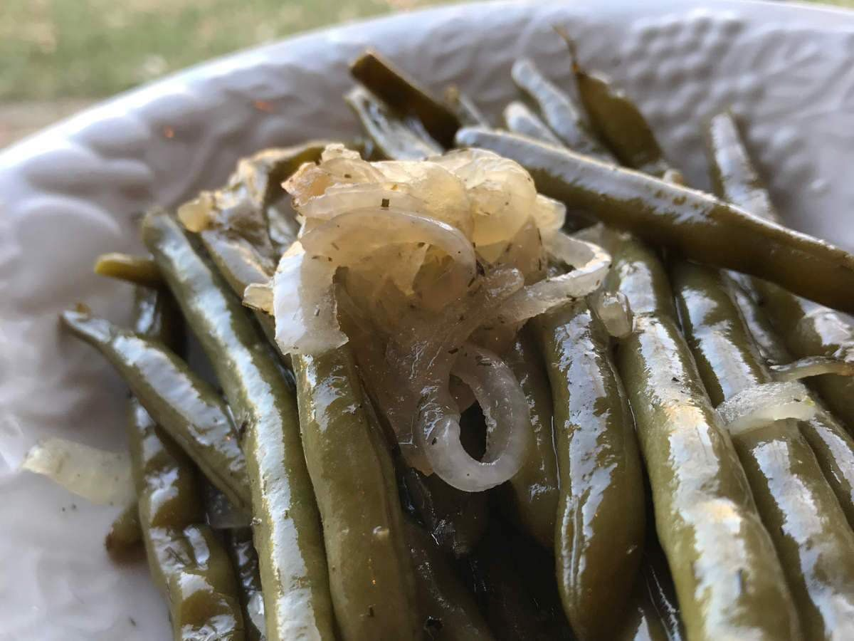 Recipes-Bacon Fat Pickle Juice Beans-solar oven recipes