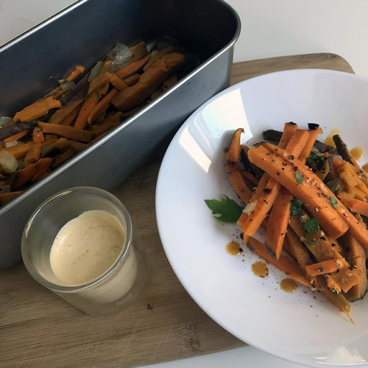 Recipes-Sweet Potato Dippers with Aji Amarillo Aioli-solar oven recipes