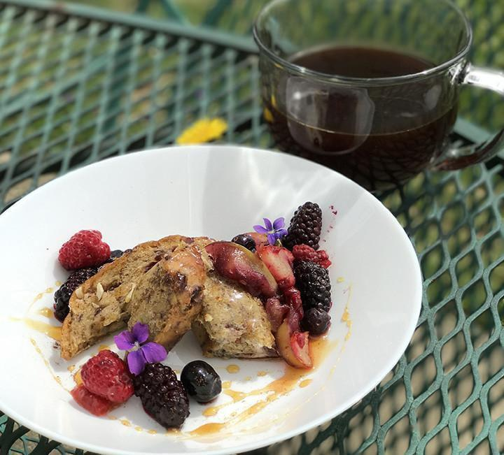 Recipes-Walnut Cranberry French Toast with Fruit Compote-solar oven recipes