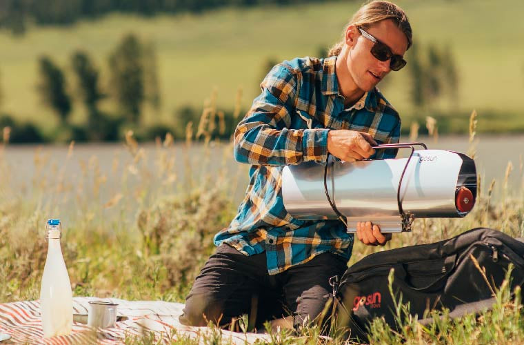 Portable Solar Cooker for Camping