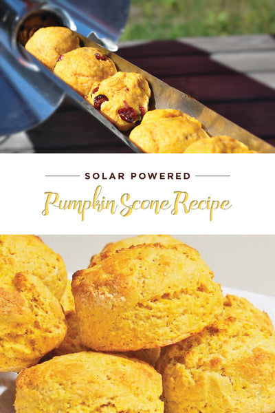 Delicious pumpkin scones from the GoSun solar cooker