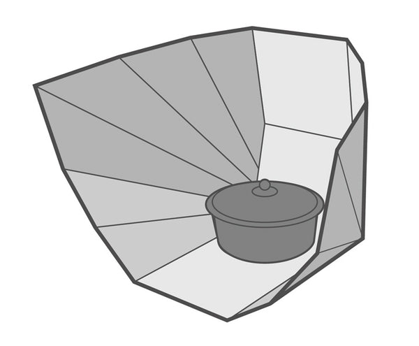 a panel solar cooker or sun oven