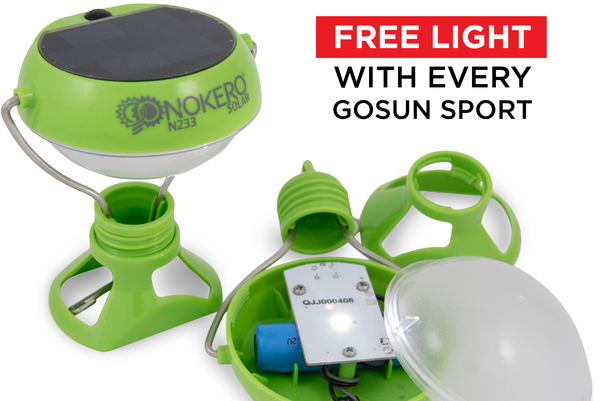 a free lamp with gosun sport solar cooker