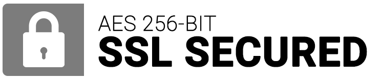 AES 256-bit SSL Secured