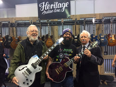 Tom and Brian with Greg DeLorto of Heritage Guitars