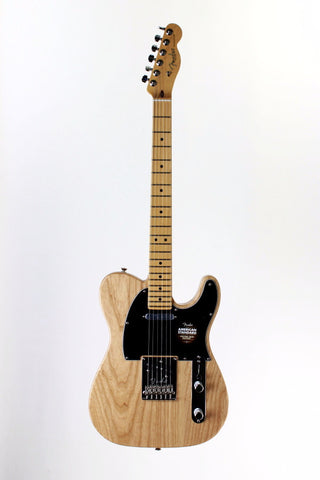 Fender American Standard Telecaster Electric Guitar, Natural, with case.