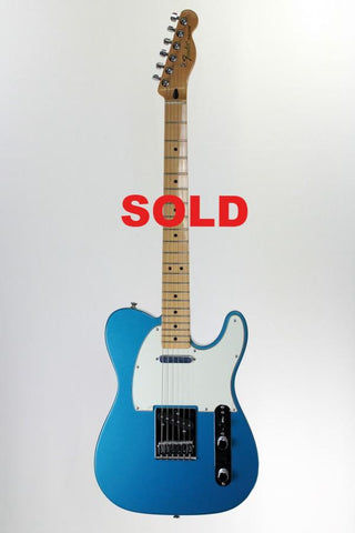 Fender Standard Telecaster Electric Guitar, Lake Placid Blue.