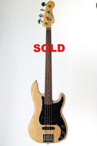 Fender Vintage Hot Rodded '60s P-Bass, Natural, with case.