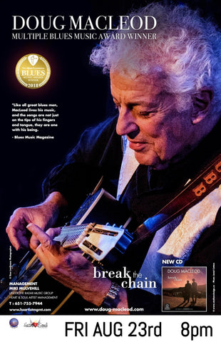 Doug MacLeod in Concert, Friday, August 23, 8:00 pm