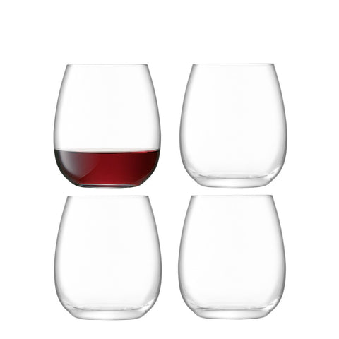 LSA Borough Stemless Wine Glasses