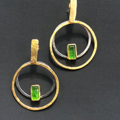 Sterling silver and gold plated earrings