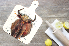 Highland Cow Chopping Board