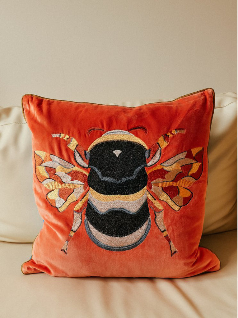 Bee Cushion Orange