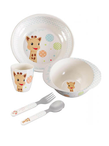 Sophie the Giraffe Dinner Set