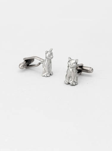Lancaster and Gibbings Cat Cufflinks