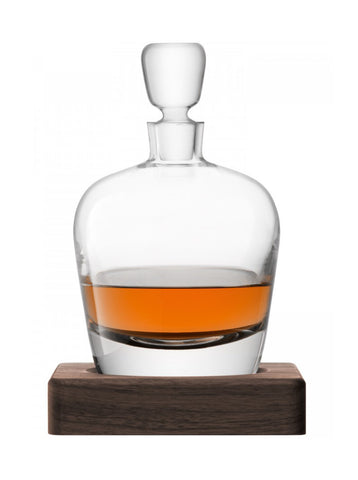 LSA Arran Decanter & Walnut Base