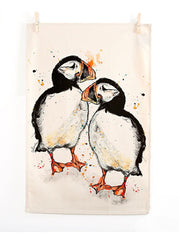 Puffin Tea Towel