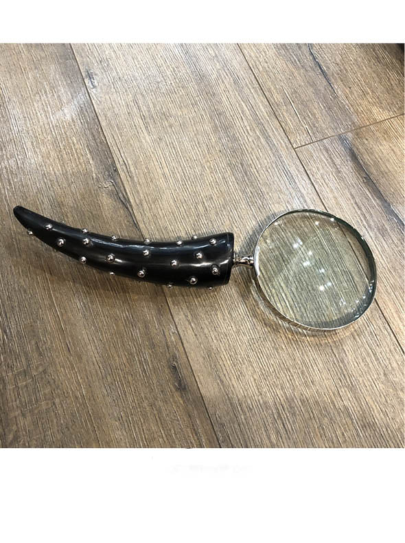 Magnifying Glass with Faux Horn Handle