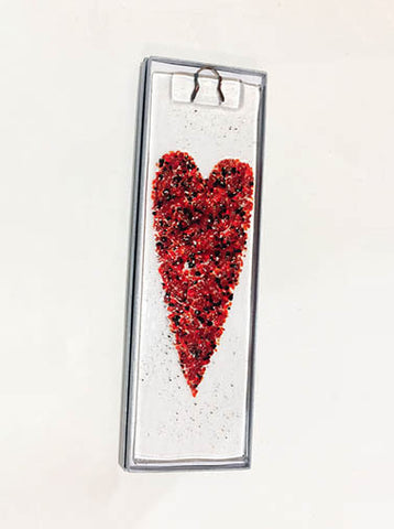 Heart Fused Glass Art